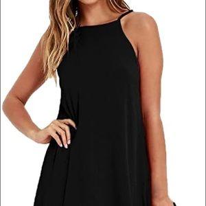 PINC HIGHNECK BLACK SHORT DRESS SIZE MEDIUM